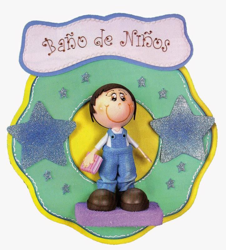 Baños Ninos Pequenos:Manualidades escolares para decorar: Moldes para Baño de niños