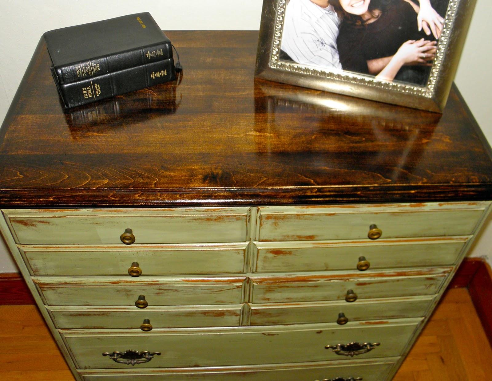 refinished furniture shabby chic light green dresser. Black Bedroom Furniture Sets. Home Design Ideas