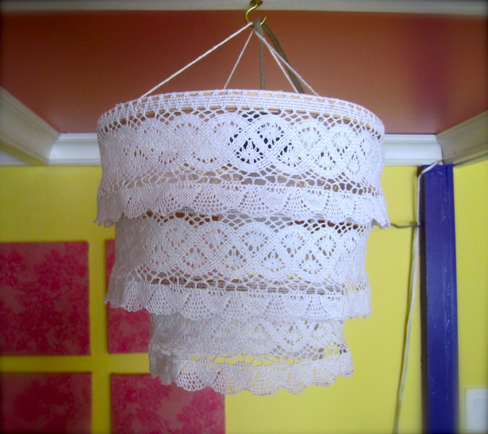 Recreational crafting diy lace chandelier diy lace chandelier arubaitofo Choice Image