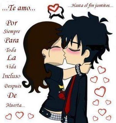 Dibujos de amor Emo para enviar por facebook