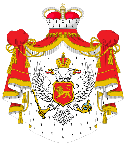 Volatile ambidextre Coat_of_arms_of_the_Principality_of_Montenegro