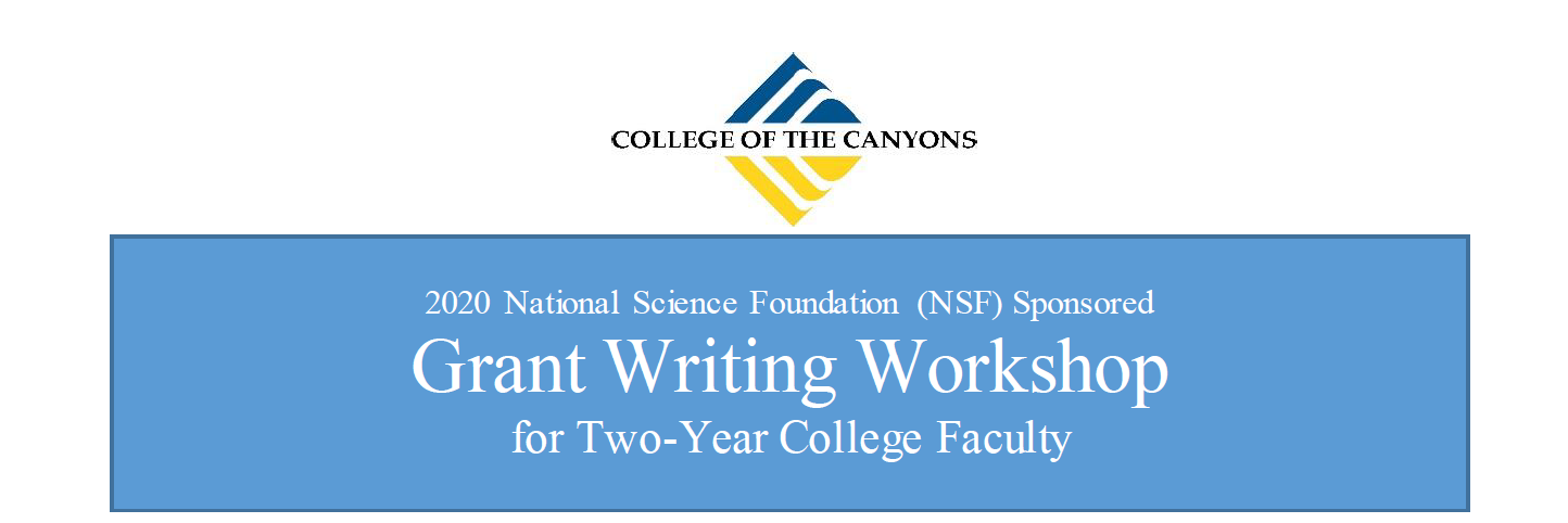 NSF Sponsored Grant Writing Workshop June 14-17, 2020