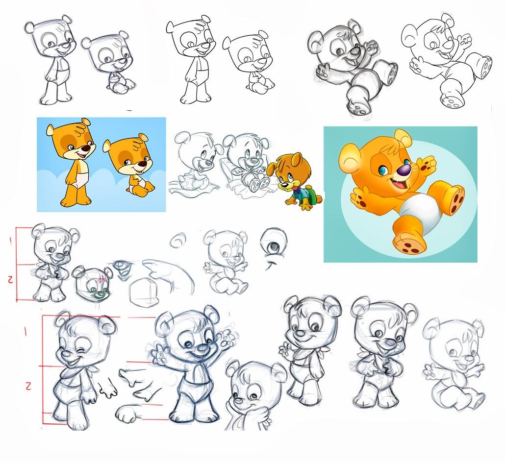 diseños de un  mismo personaje