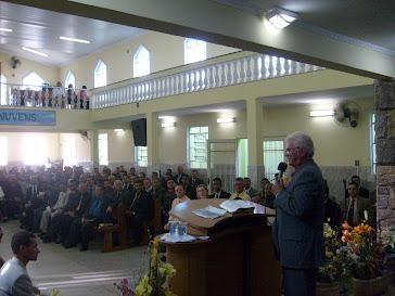 Ministrando em reunião de obreiros em Campo Limpo Paulista SP