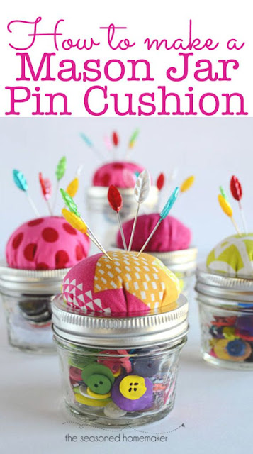 http://www.seasonedhomemaker.com/mason-jar-pin-cushion-tutorial/