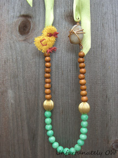 chicken and egg easter necklace tutorial