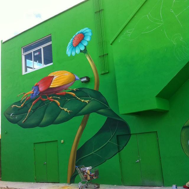 Work In Progress By Ukrainian Street Art Duo Interesni Kazki In Miami, USA. 1