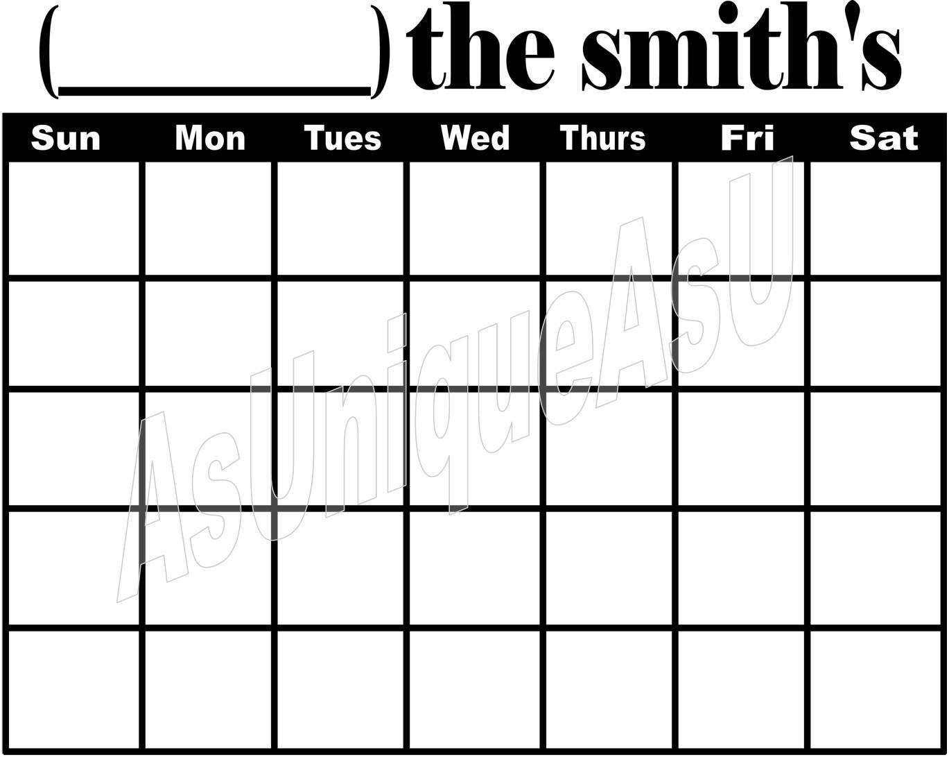 Blank Calendar Grid : Calendar grid new template site