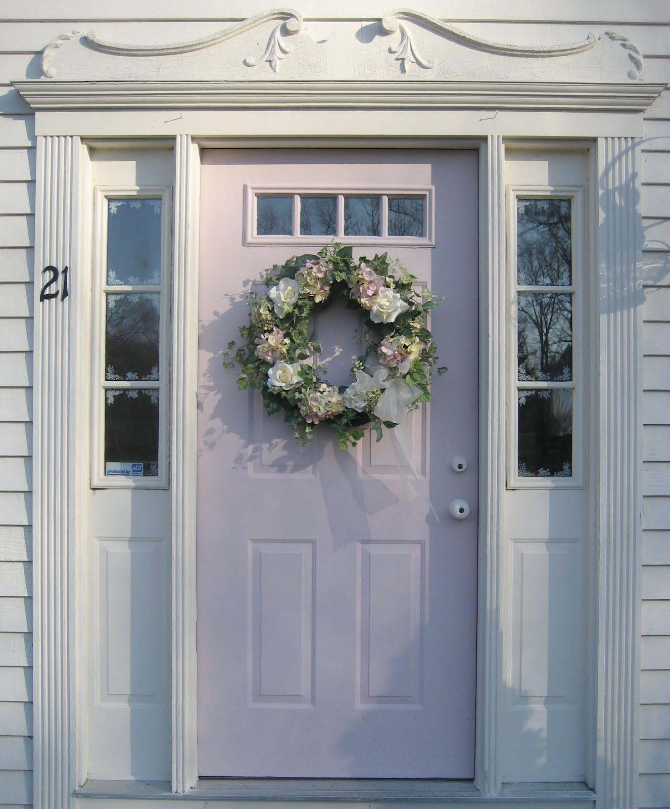 Passionate for white i painted our front door for Chalk paint door