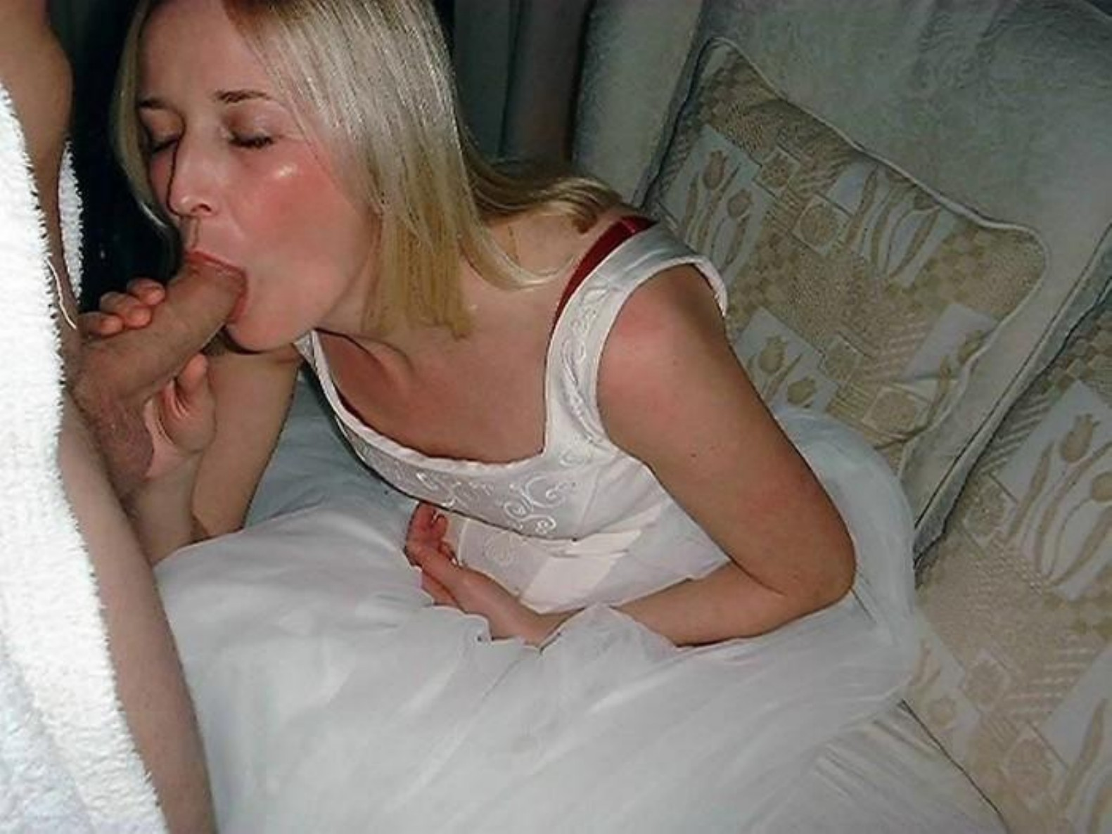 after blowjob Amateur wedding wife