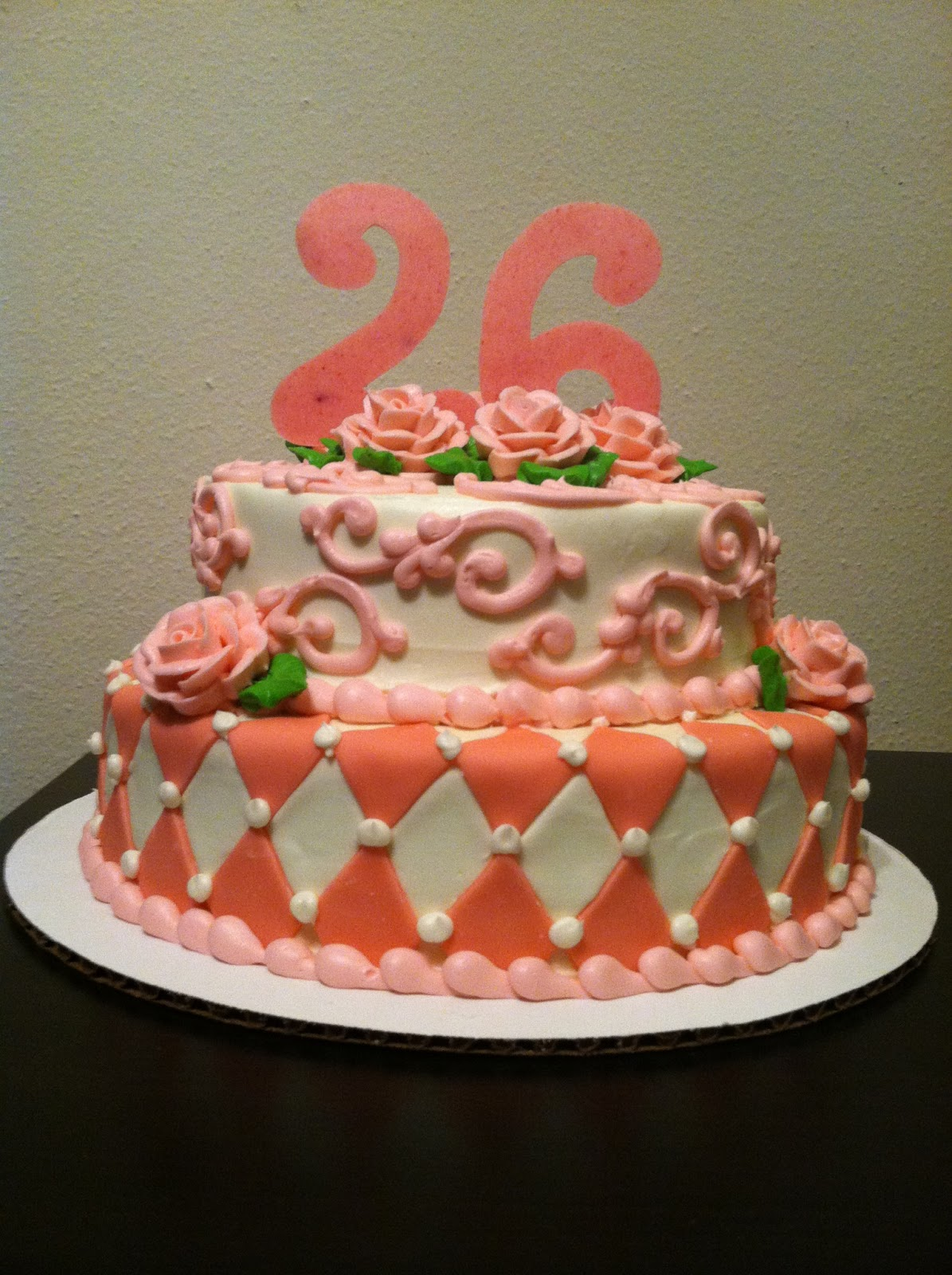 My Sweet Diversion Pretty In Pink Birthday Cake