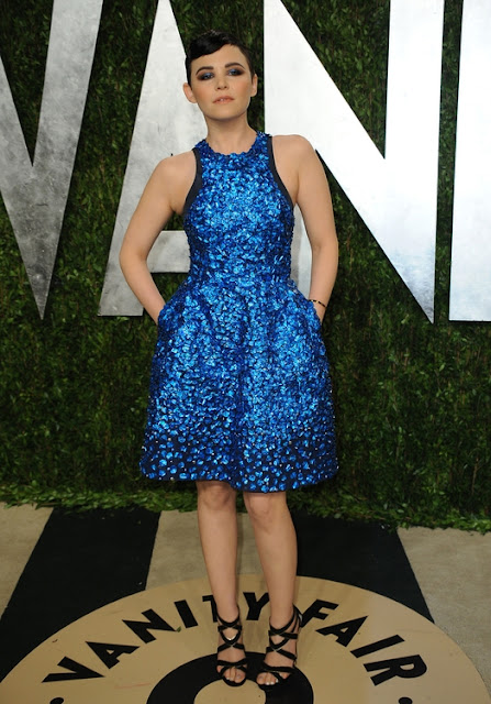 Fashion Junkies' OSCAR FAV is Ginnifer Goodwin ‬in a  Monique Lhuillier dress.