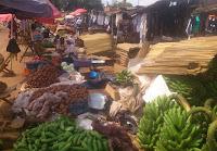 Food stalls at a market in Kamuli, eastern Uganda. (Image Credit: ErinaMukuta via Wikimedia Commons) Click to Enlarge.
