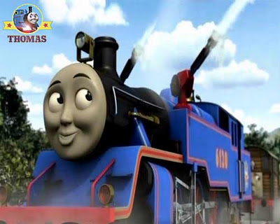 Thomas and friends Belle the tank engine big blue train with a brass bell who loves to lend a hand