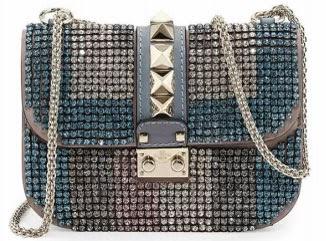 bolsa Glam Lock Crystal Valentino