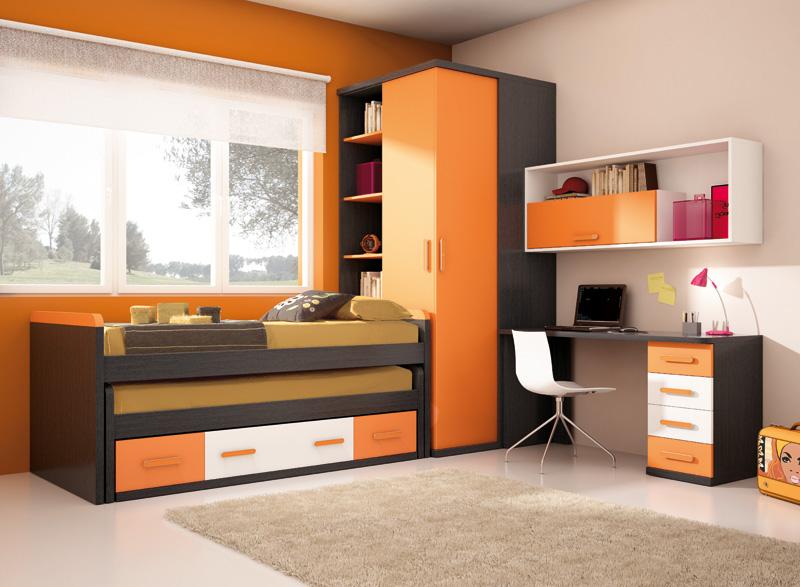 Not for boring decoraci n en naranja - Muebles dormitorio juvenil ...