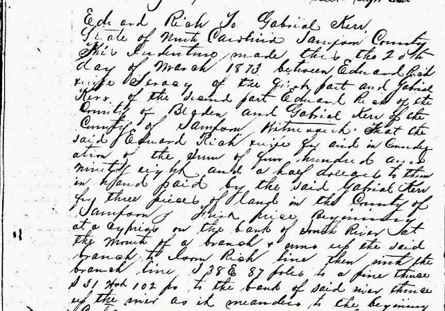 In The Meantime, Let Me Get Down To The Transcribing --How Did I Get Here? My Amazing Genealogy Journey  Sampson County, Deeds, Gabriel Kerr
