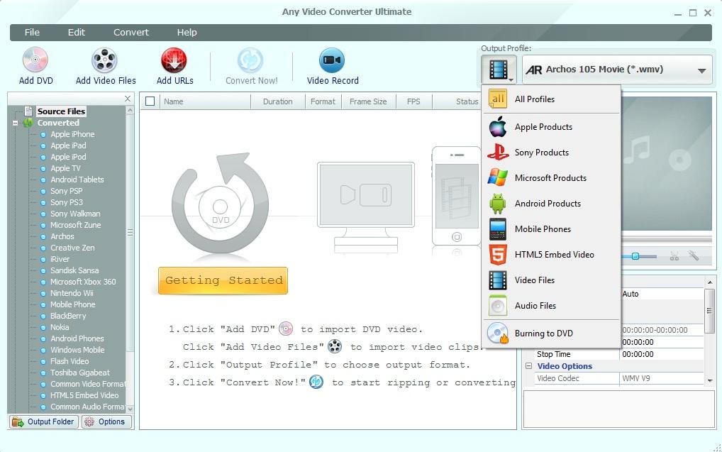 Any Video Converter  Downloadcom