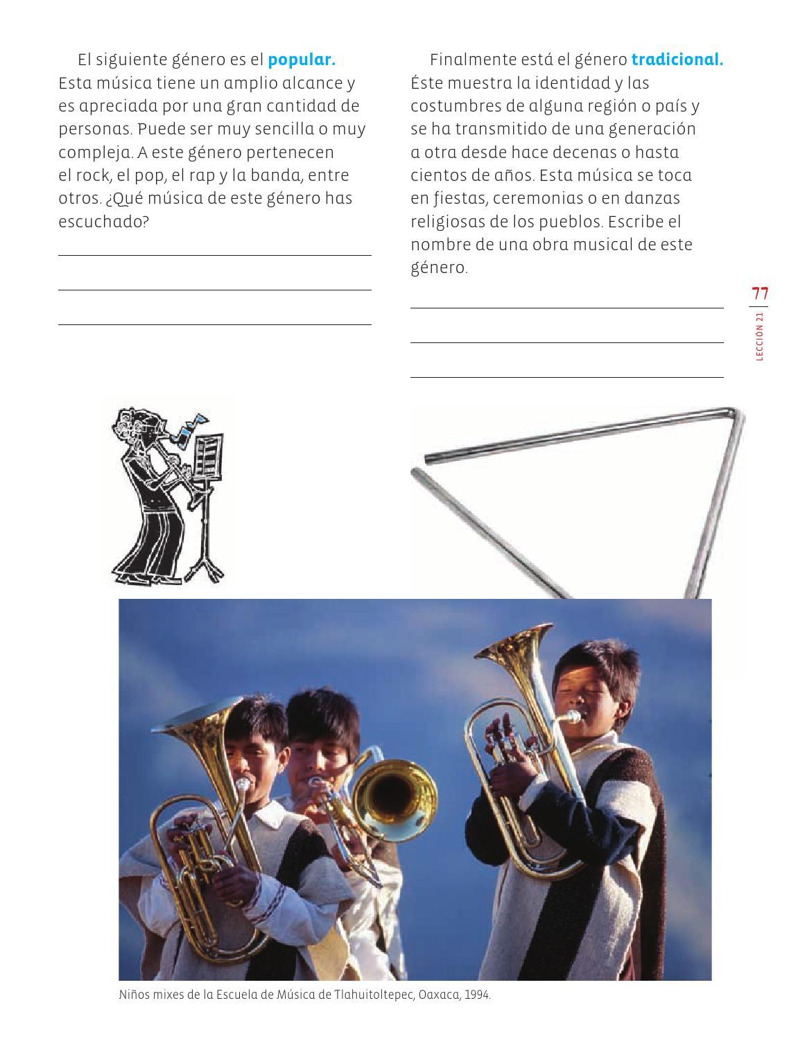 Tu música, mi música, nuestra música - Eduación Artística 3ro Bloque 5 2014-2015