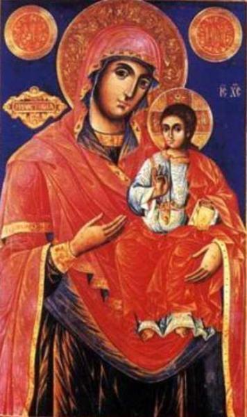 Вышивка иконы милостивая