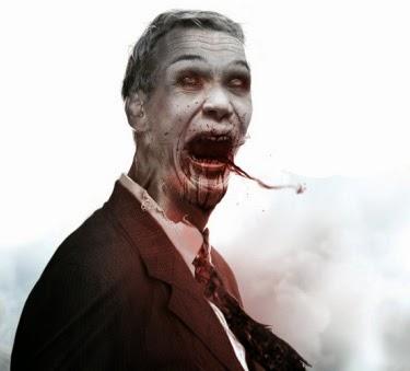 el villano arrinconado, chistes, humor, satira, zombies