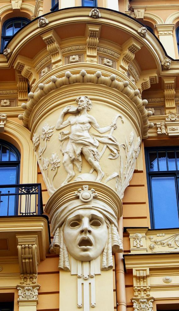 Your friend in riga wonders of art nouveau for Architecture art nouveau