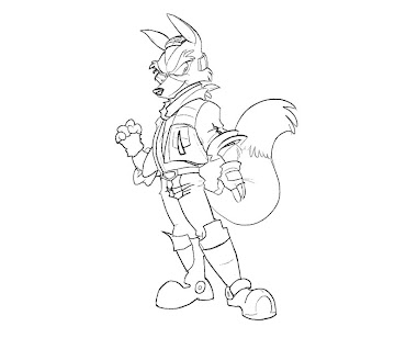 #14 Fox McCloud Coloring Page