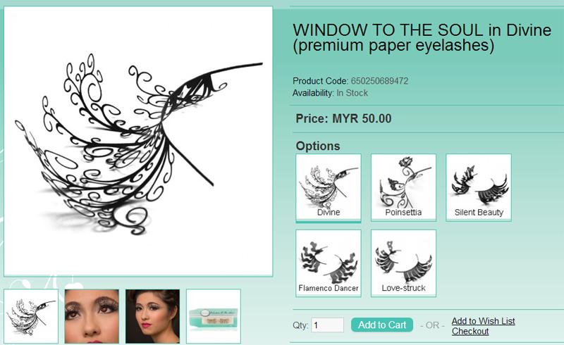 Omorose paper eyelashes