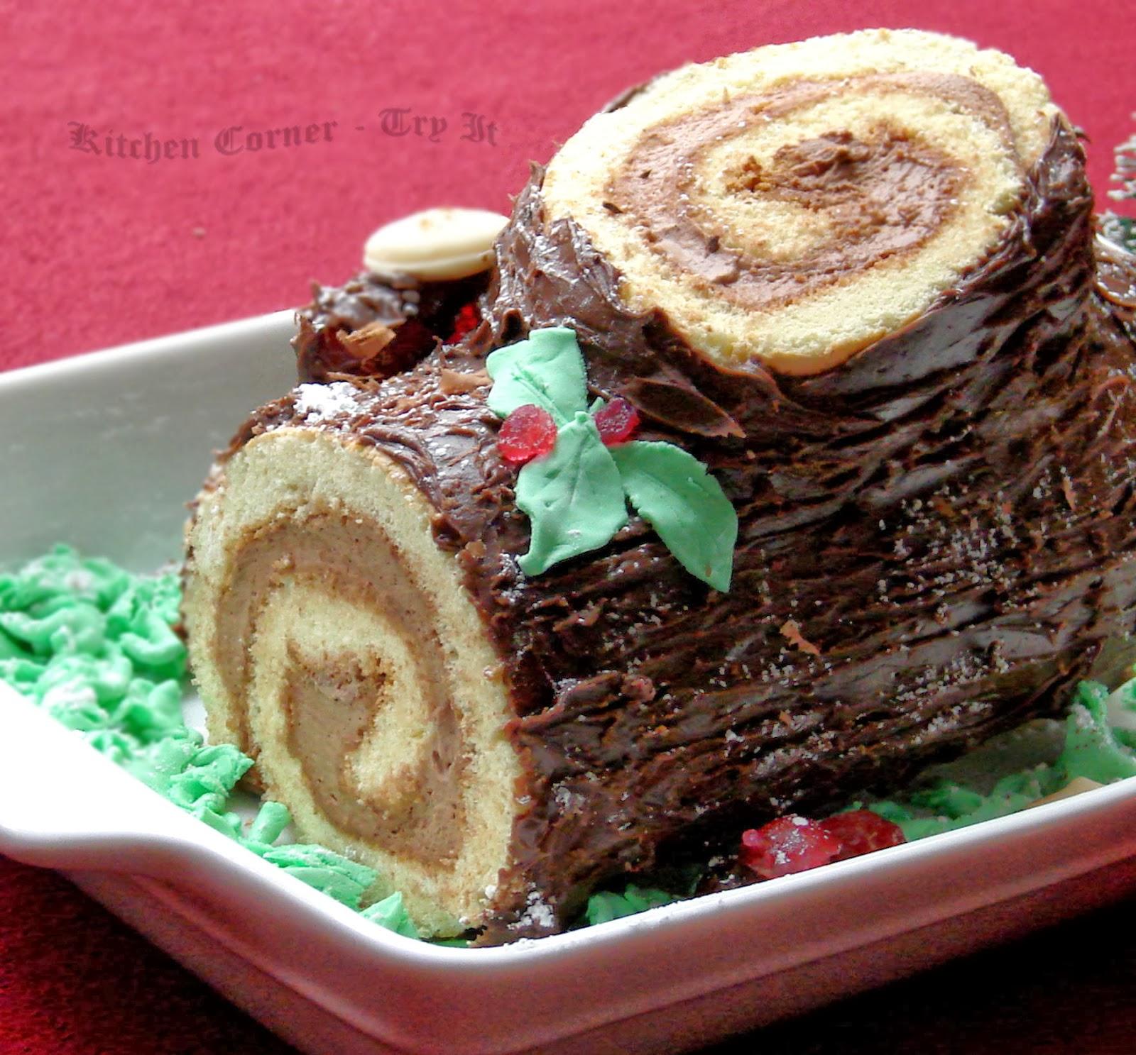 Yule Log Cake Decorations