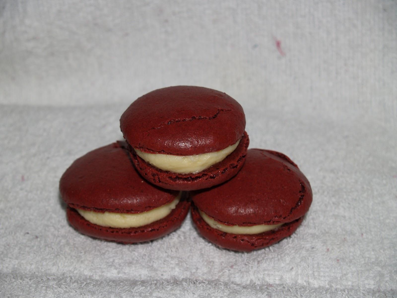 The Mad Hatters Baking Red Velvet Macarons