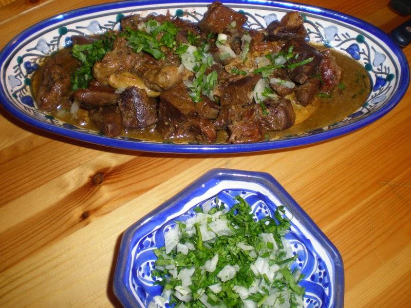 Klaya de laid el kebir (foie, coeur et viande de mouton)