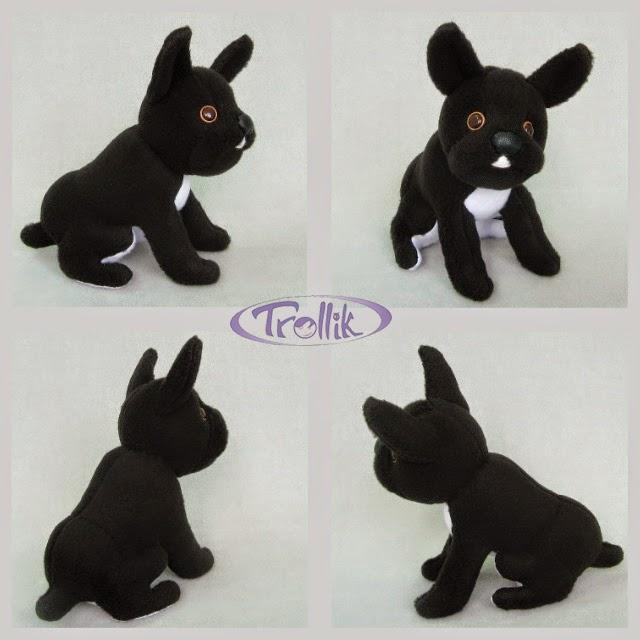 мягкая игрушка  из флиса собака бульдог