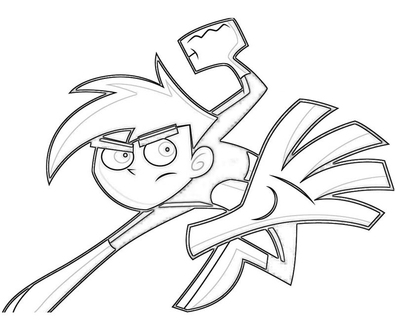 Danny Phantom Danny Phantom Attack Coloring Pages