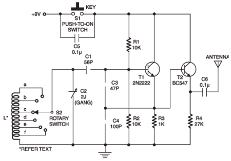 Small Circuit Multiband Radio - Transmitter CW | Electronic Circuits ...
