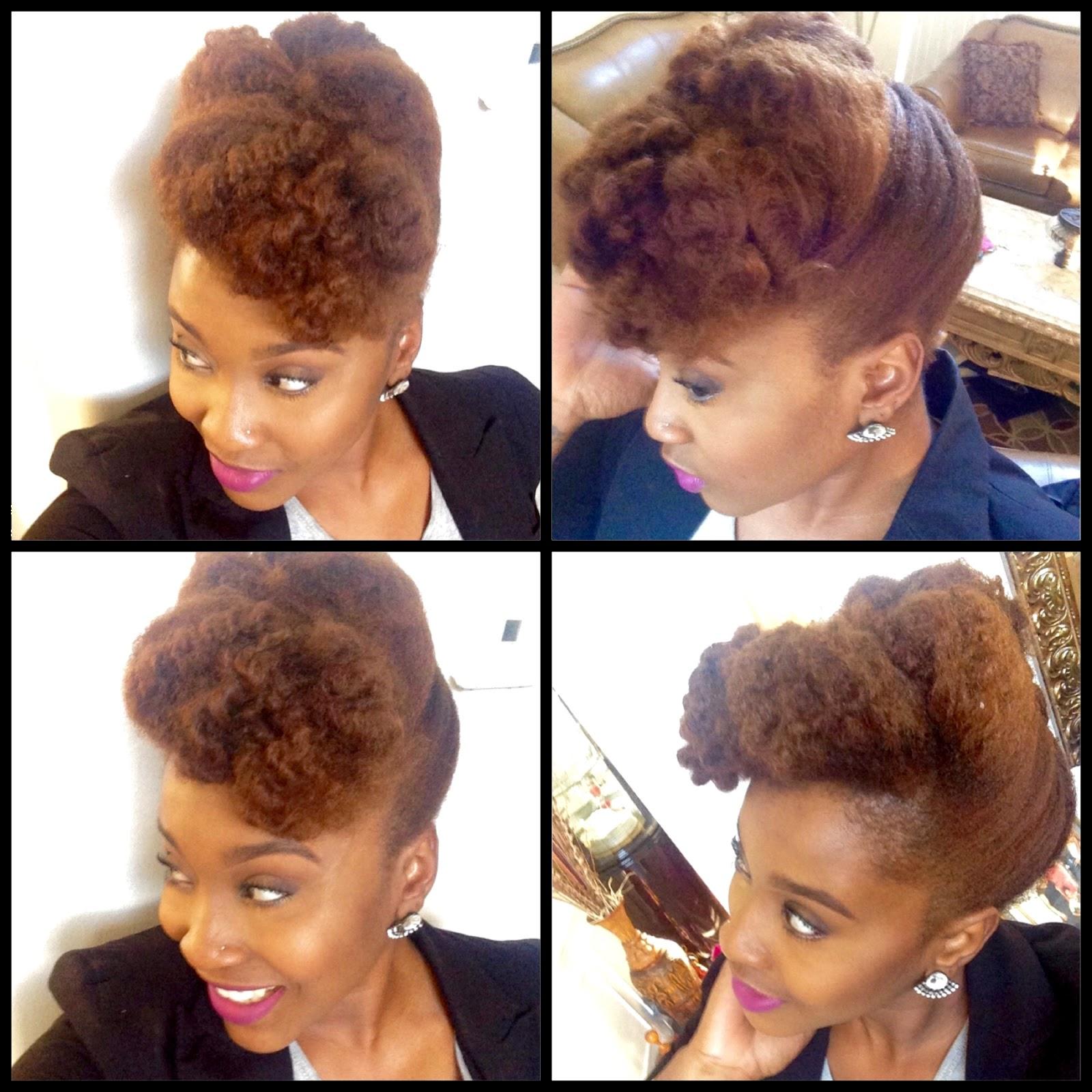 Textured Pompadour Tutorial Natural Hair Updo