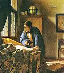 Le Géographe - Vermeer - 1669