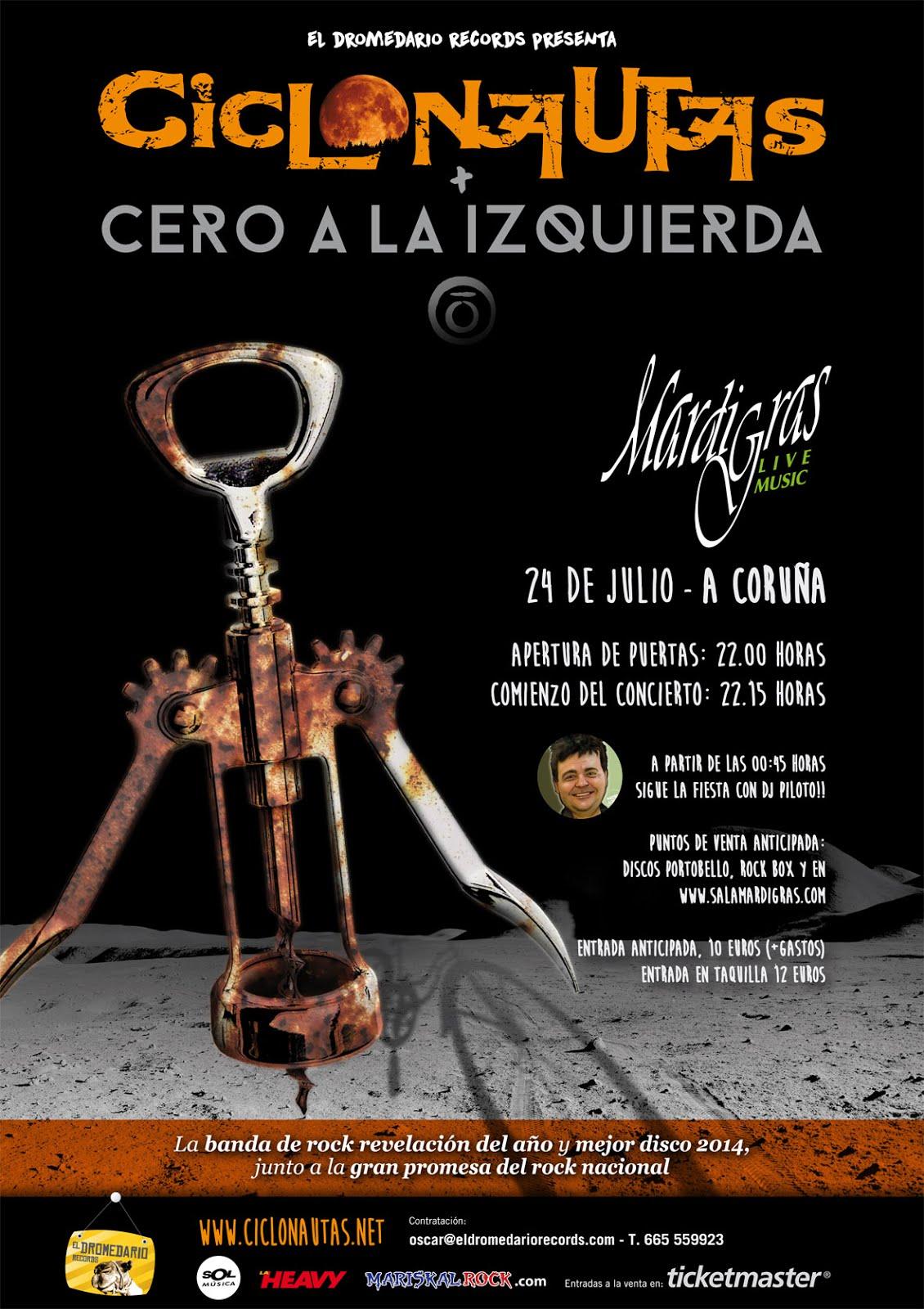 CICLONAUTAS & CERO A LA IZQUIERDA Y DJ PILOTO POR PRIMERA VEZ EN GALICIA!!
