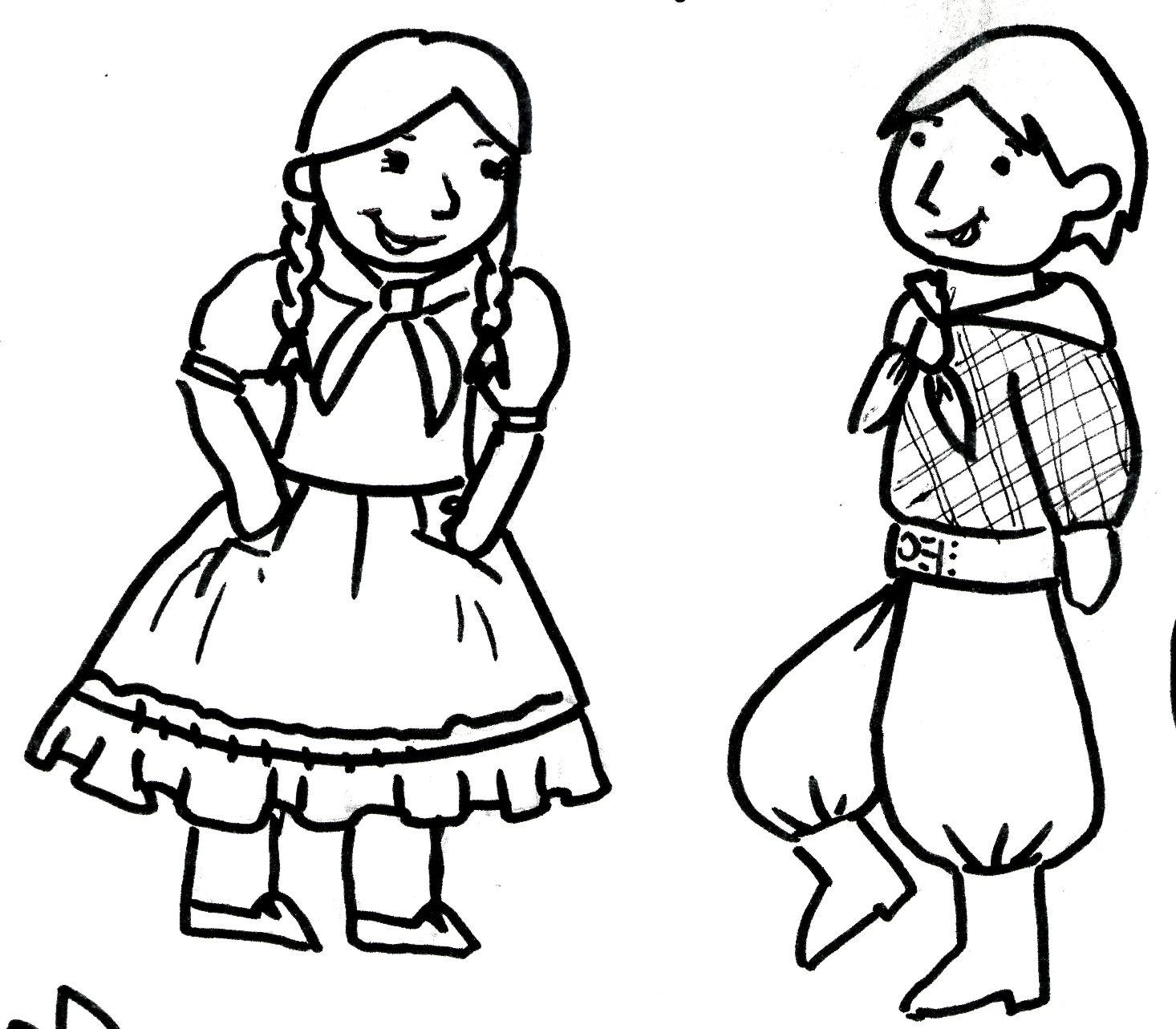 Dibujos de danza folklorica mexicana para colorear - Imagui