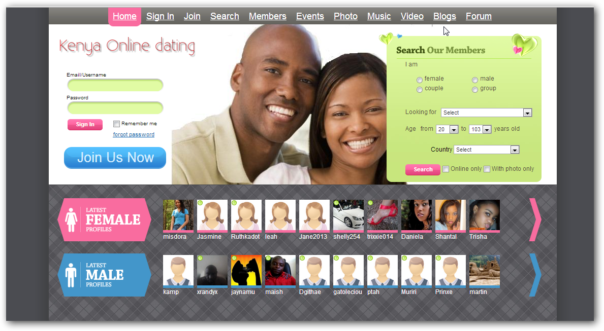 Free Online Dating in Kenya - Kenya Singles - mingle2com