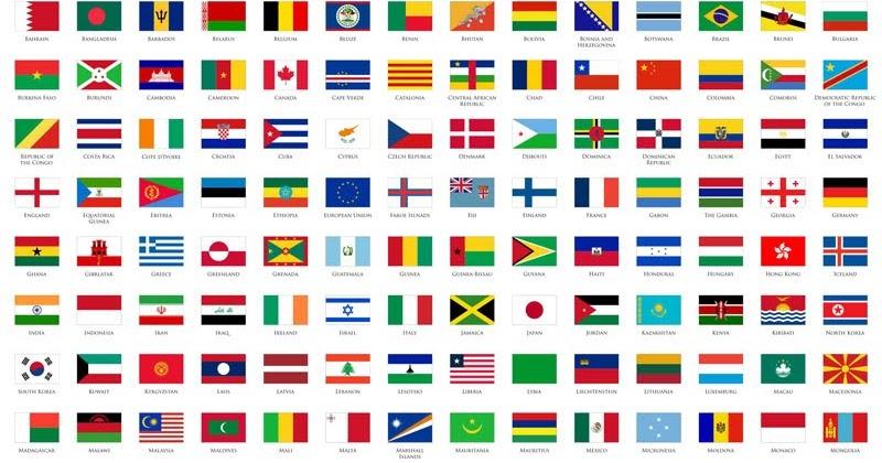 Bendera Seluruh Dunia Beserta Nama Negara