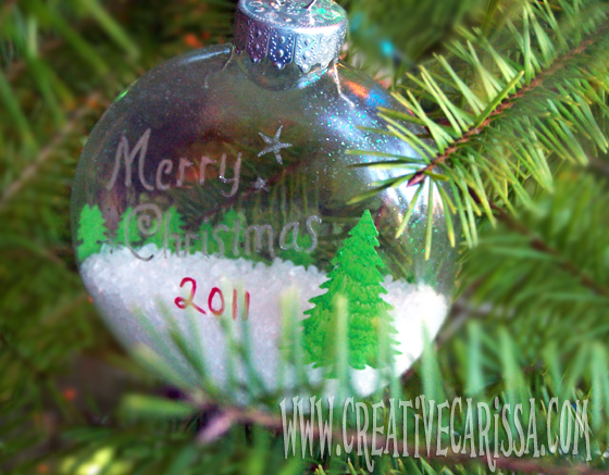 @creativecarissa #NUO2012 Winter in an Ornament