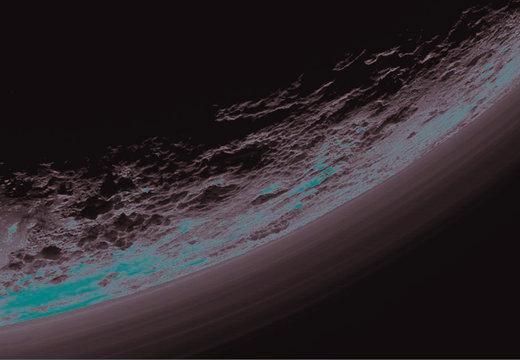 Variedad del paisaje en Plutón
