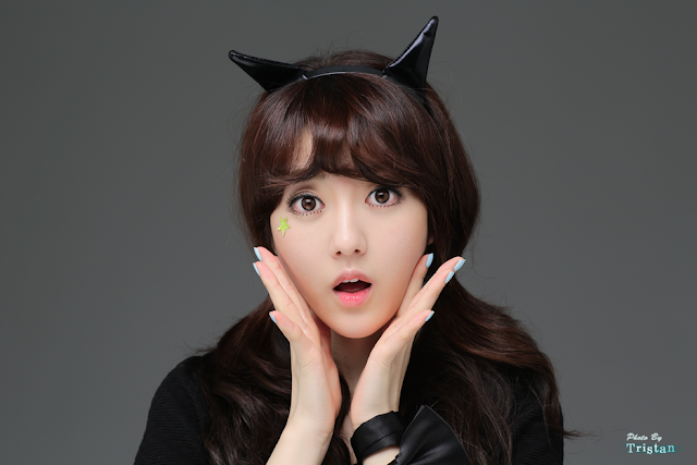 3 Cat girl Bo Mi - very cute asian girl-girlcute4u.blogspot.com
