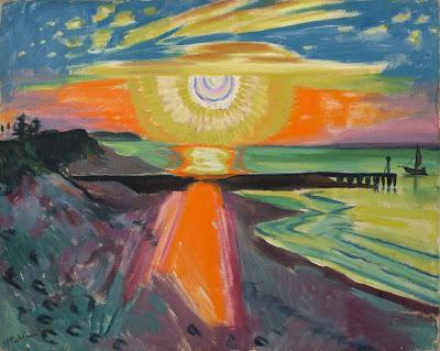 Hermmann Max Pechstein - Sonnenuntergang an der See, 1921