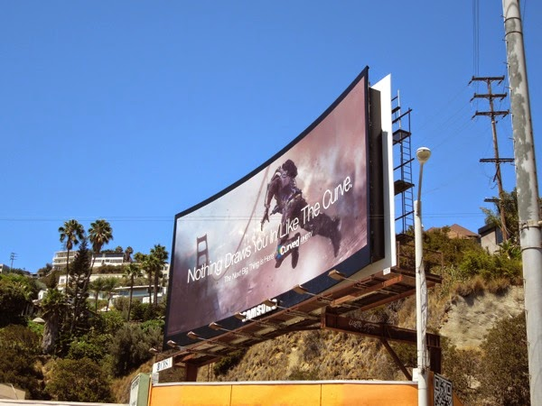 Samsung Curved UHD TV billboard