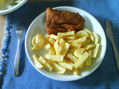 Homemade fish & chips