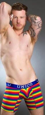 Man's Hairy Armpits and Rainbow Underwear