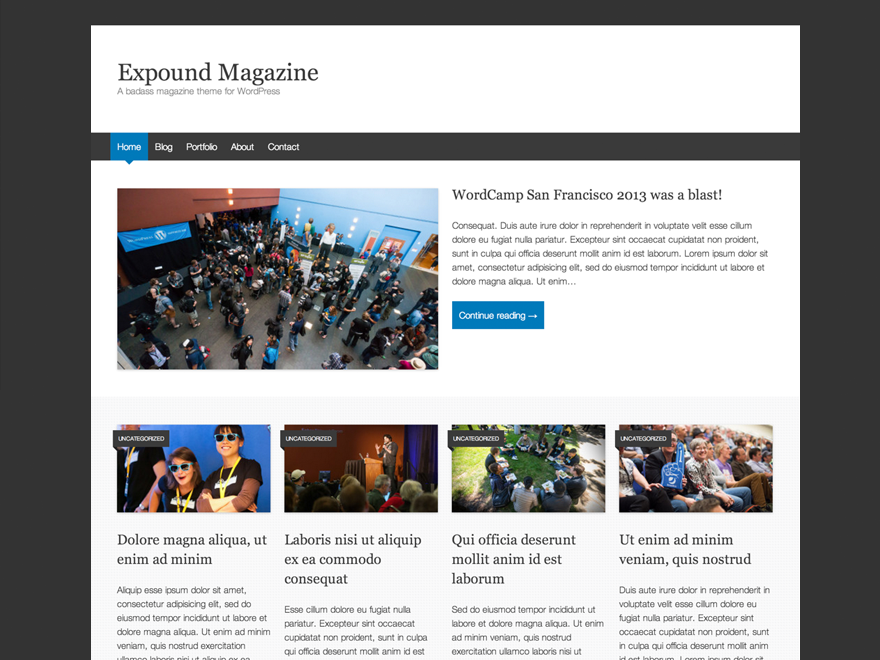 Download Gratis Expound Wordpress theme , News , Blog