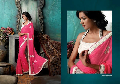Latest Laxmipati Embroidered Saree Collection 2013-2014 For Women