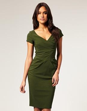 Vestidos color verde seco